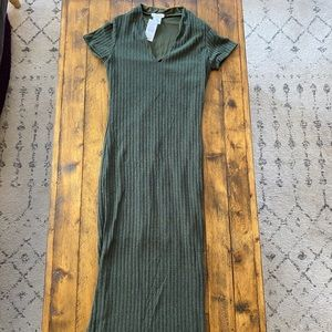 Short Sleeve Midi Sweater Dress Bodycon